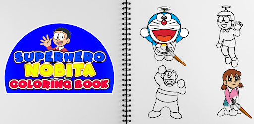 Superhero Nobita Coloring Pages for PC
