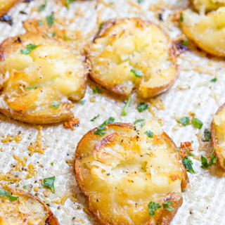 Parmesan Garlic Crash Hot Potatoes
