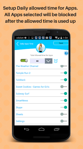 Trackidz Parental Controls Screenshot