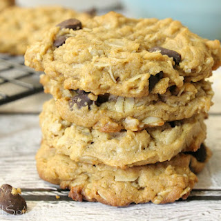 Flourless Peanut Butter Oatmeal Chocolate Chip Cookies Recipe