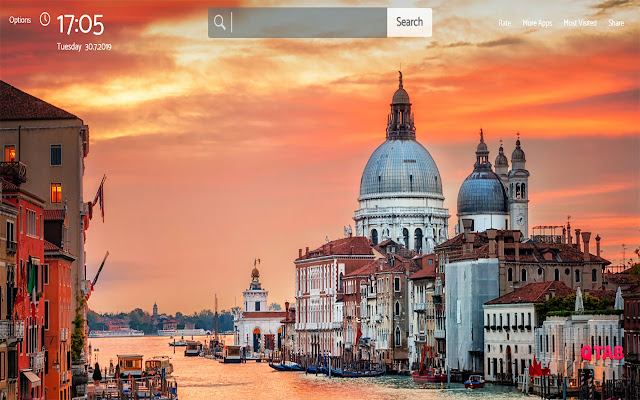 Venice Wallpapers New Tab Theme