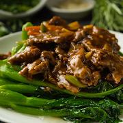 Sliced Beef with Seasonal Vegetables