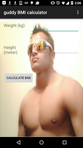 android guddy BMI calculator Screenshot 0