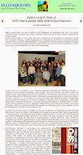 "Photo: Poemas de ""SFO"" en italiano traducidos en la Universidad de Bolonia. Coordina Gloria Bazzocci, Fili d'Aquilone (filidaquilone.it/num035bazzocchi.html), julio-sept 2014"