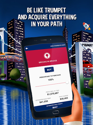 Donut Trumpet Tycoon Realestate Investing Game Screenshot