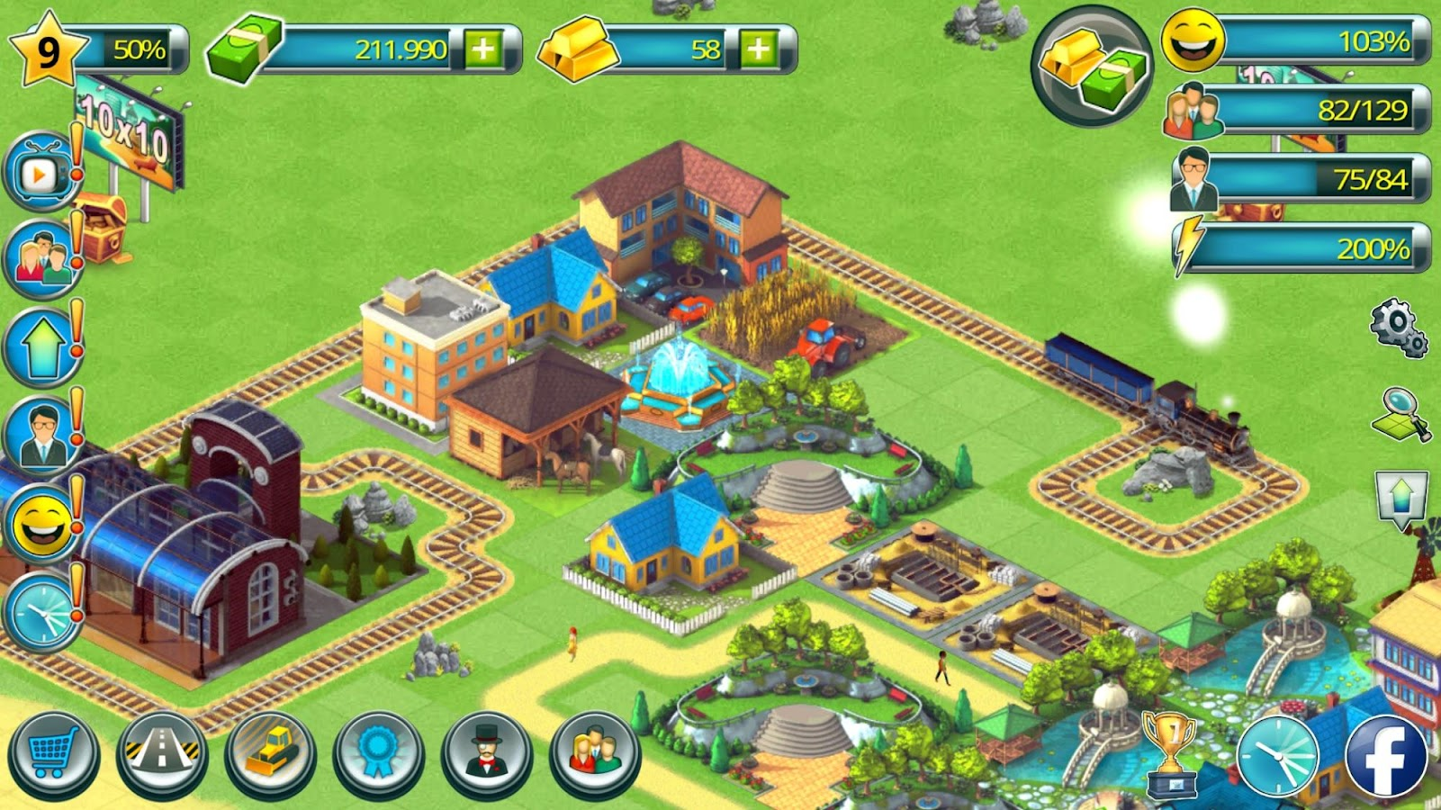 Town building games tropic town island city sim android for Build house app