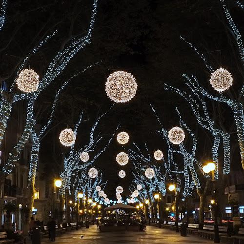 Night lights by Peter Wabbel - City,  Street & Park  Street Scenes ( night light, pwc83, masterofthemoment, palmademallorca, christmas, weihnachten, mallorca, beleuchtung, navidad, noche, iluminacion, nacht, majorca, peterwabbel )