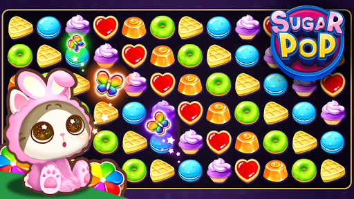 Sugar POP - Sweet Puzzle Game  captures d'u00e9cran 1