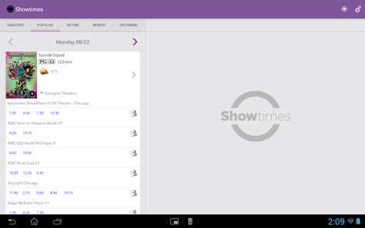 Showtimes (Local Movie Times and Tickets) 2.6 screenshots 7