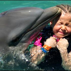 Dolphin Play by Cindy Walker - Babies & Children Children Candids