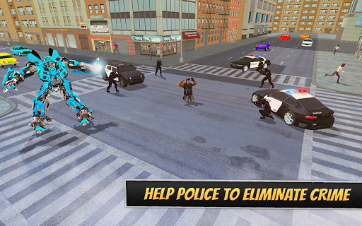 Pacific Robo Police Car Transformation Robot Rim 1.3 screenshots 2