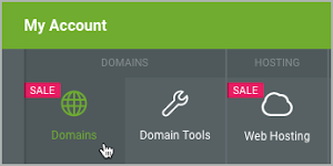 Domains button is selected