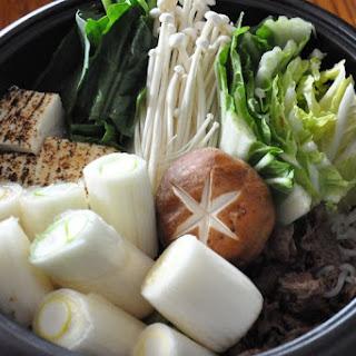 New Year's Sukiyaki, Lots of Leeks!.