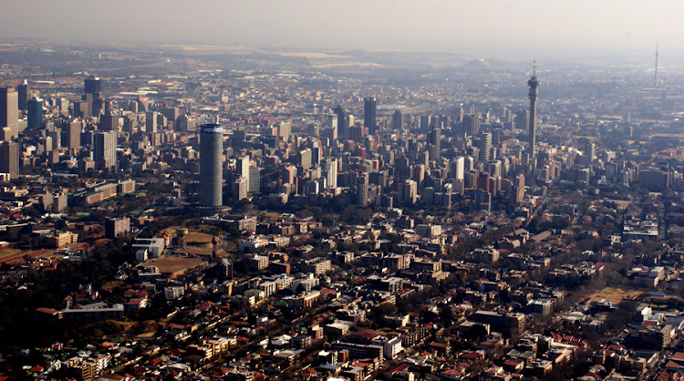 An aerial view of Johannesburg, a city of more than 4-million. Picture: THINKSTOCK