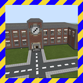 Tải School and Neighborhood Map For MCPE miễn phí