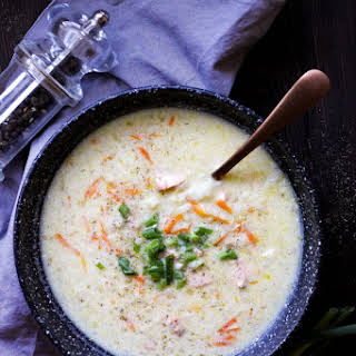 Cream Cheese Salmon Soup.