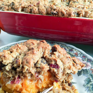 Oatmeal Cookie Marshmallow Sweet Potato Casserole