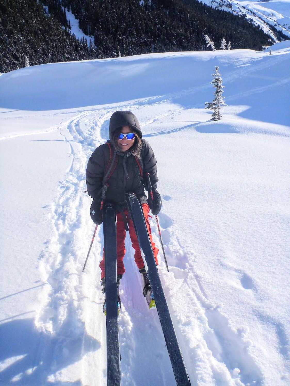 Me balancing on my skis