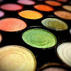 Color Blur by Rachel Santellano - Artistic Objects Other Objects ( makeup, palette, rainbow )
