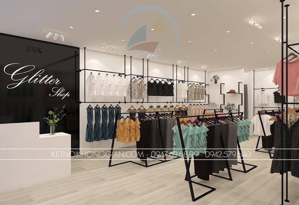 thiết kế shop thời trang nữ giá thành rẻ Glitter 2