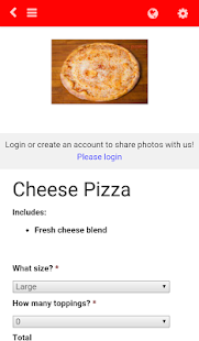 Venus Pizzeria Online Ordering- screenshot thumbnail