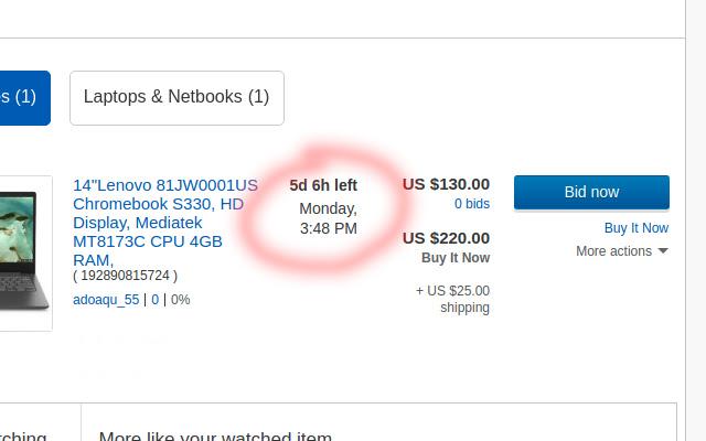 Ebay Timezone Fixer