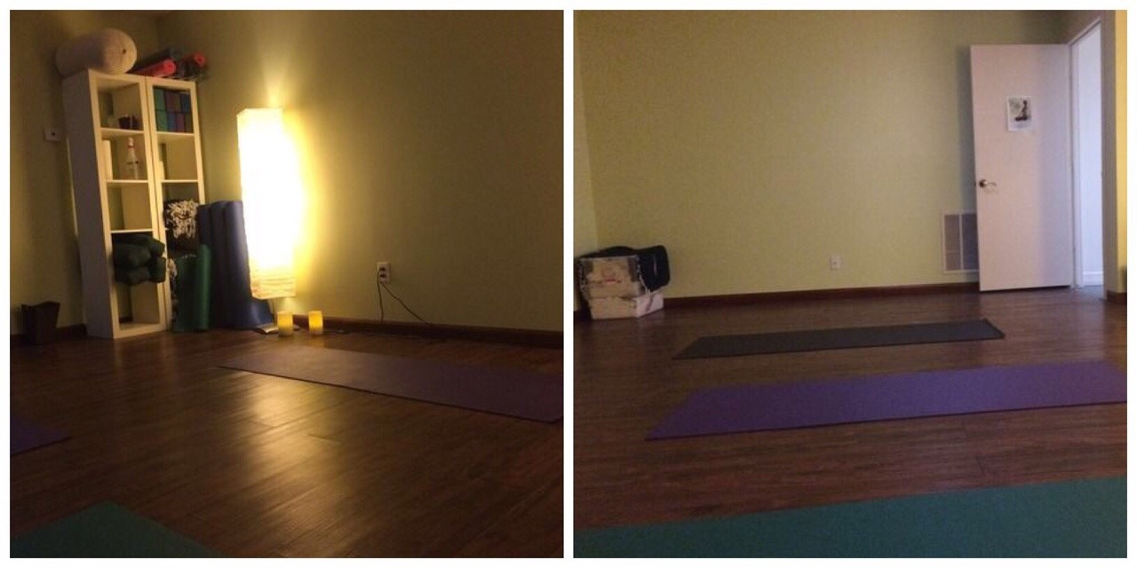 happiest yoga room ever