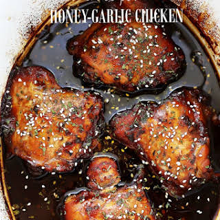 Crock Pot Honey-Garlic Chicken.
