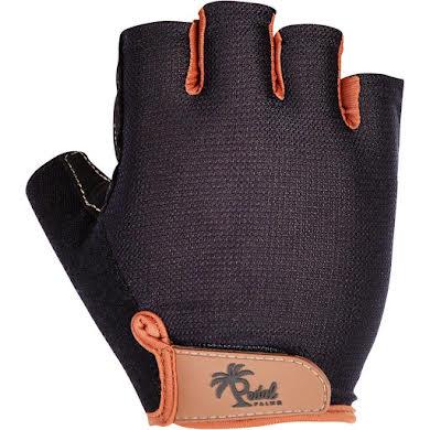 Pedal Palms Black N Tan Gloves - Short Finger