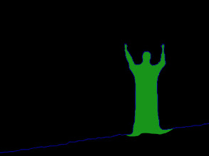 Photo: Neon Man arms up