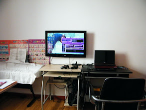 Photo: our new Haier 32 Inch LED TV installed. gaming station improved for benzrad 朱子卓 and his son, warrenzh 朱楚甲's hang together.
