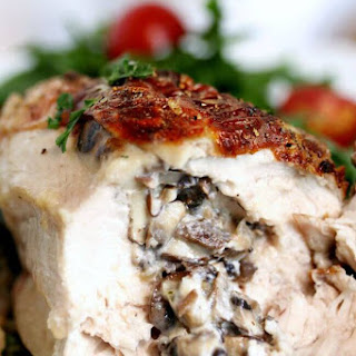 Mushroom Stuffed Chicken Breast