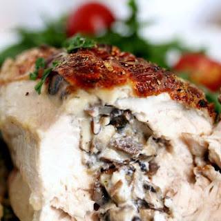 Mushroom Stuffed Chicken Breast.
