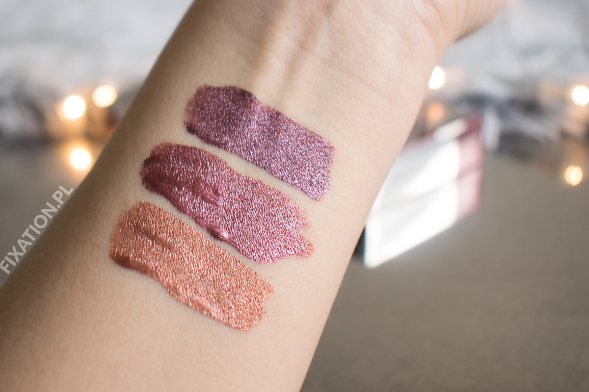 Wibo Liquid Metal Lipstick - swatche na ręce