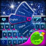 Blue Glitter Keyboard