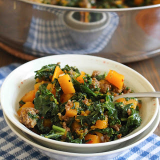 Beef & Butternut Bowls with Kale.