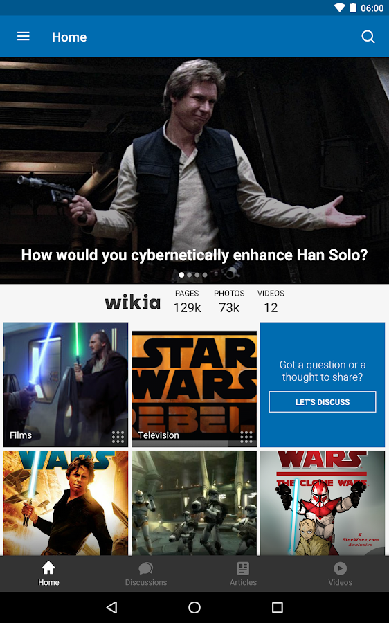 Fandom: Star Wars- screenshot
