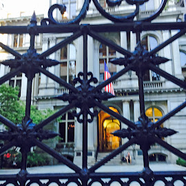Gate at the Old State House, Boston by Kristine Nicholas - Novices Only Objects & Still Life ( history, fence, building, boston, architecture, multiple, historic, gate,  )