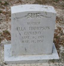 Photo: Ella Thompson Canaday daughter of James Calvin Benton Thompson and Keziah Christianity Green
