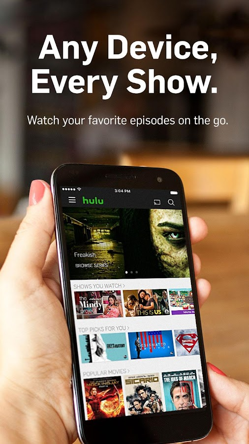 Screenshots of Hulu: Watch TV & Stream Movies for iPhone