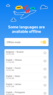 Yandex.Translate – offline translator & dictionary Screenshot