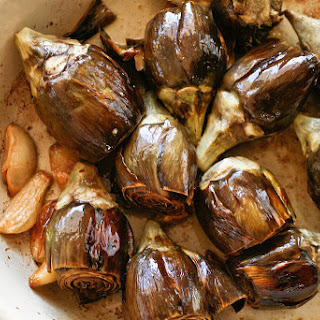 Roasted Baby Artichokes & Garlic Recipe