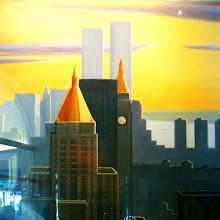 Photo: Painting of the New York Skyline @ New York Historical Museum