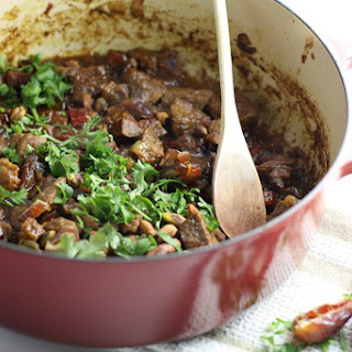 Lamb Tagine with Dates and Pistachios.