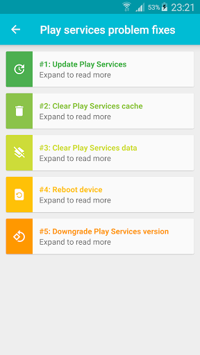 how to fix google play services