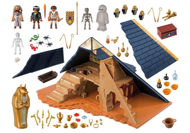 Contenido real de Playmobil® 5386 Pirámide del Faraón