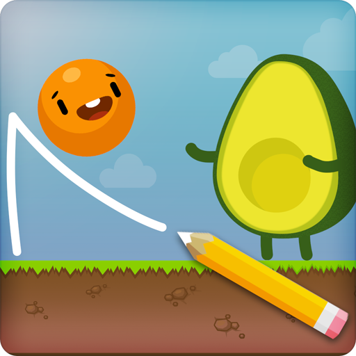 Where's My Avocado? Draw lines Icon