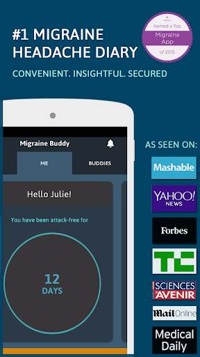 Migraine Buddy - The Migraine and Headache tracker Screenshot