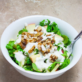 Apple Walnut Salad with Lemon Sour Cream Dressing.