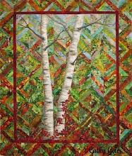 Photo: Birches and Virginia Creeper